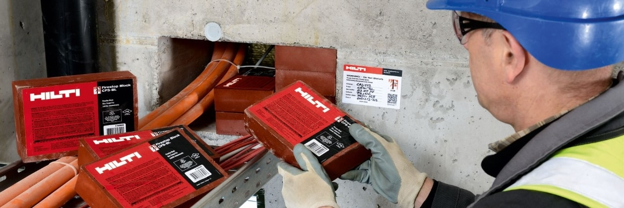 Hilti firestop for  electrical penetrations