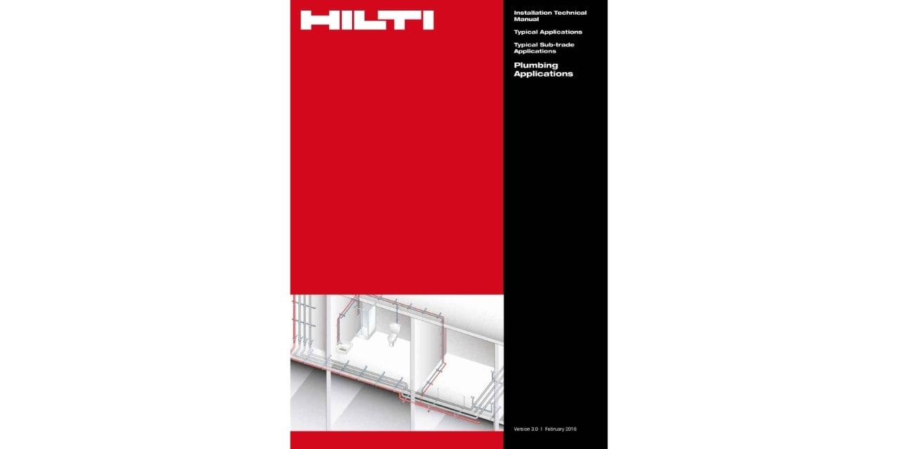 Hilti plumbing installations technical manual