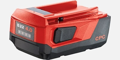 All Hilti batteries have a robust outer casing
