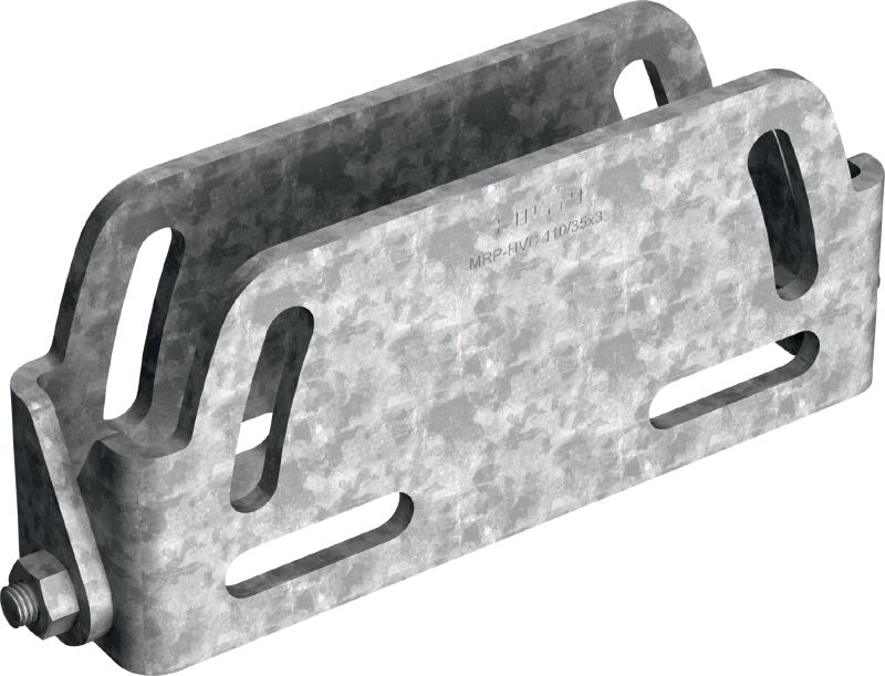 MRP-HVC-HDG Hot-dip galvanized (HDG) connector to fasten high-voltage cables