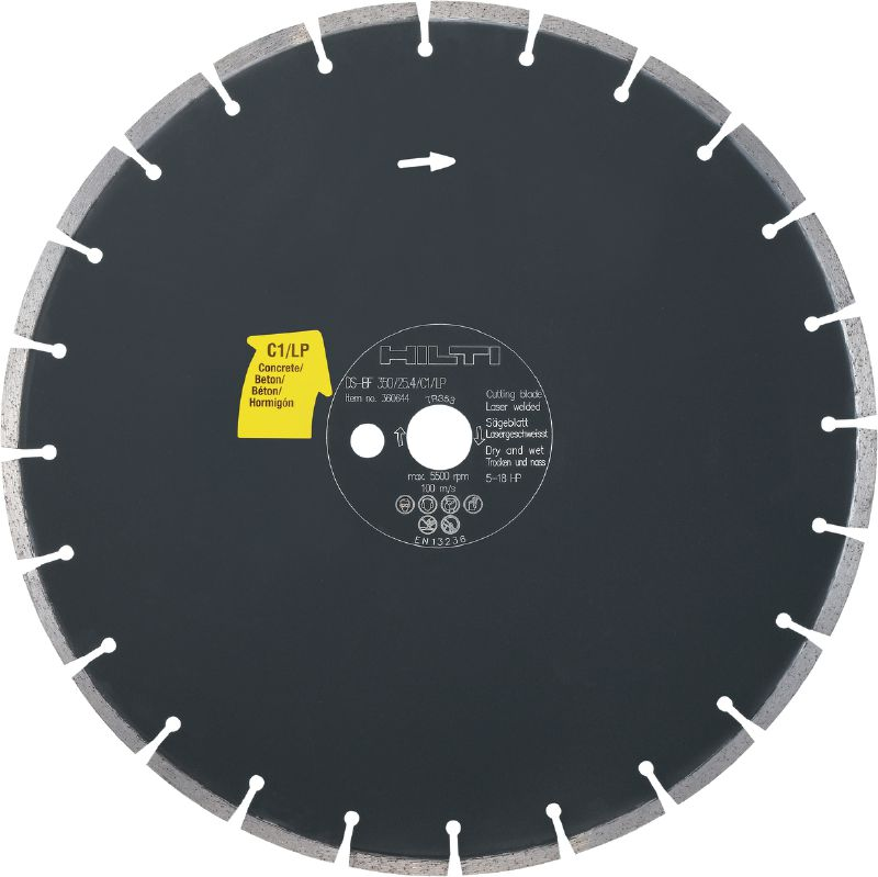 Floor saw blade concrete C1/LP Premium floor saw blade (5-18 HP) for floor sawing machines – designed for cutting concrete