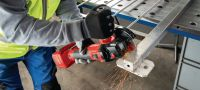 AG 4S-A22 Cordless angle grinder 22V cordless angle grinder (brushless) for everyday cutting and grinding with discs up to 125 mm Applications 1