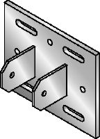 MIC MAH Hot-dip galvanized (HDG) multi-angle connector for fastening MI girders to steel beams at an angle