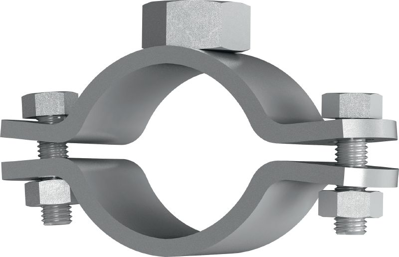 MFP-PC M20 Galvanised fixed point pipe clamp for maximum performance in heavy-duty piping applications