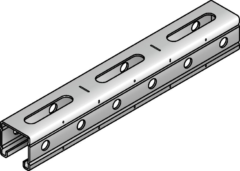 MR-41 Galvanized strut channel with serrated edges