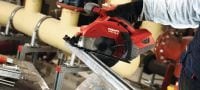 SCM 22-A Cordless 22V circular saw operated by Li-ion battery featuring guide rail compatibility and metal chip collector for cold metal cutting Applications 2