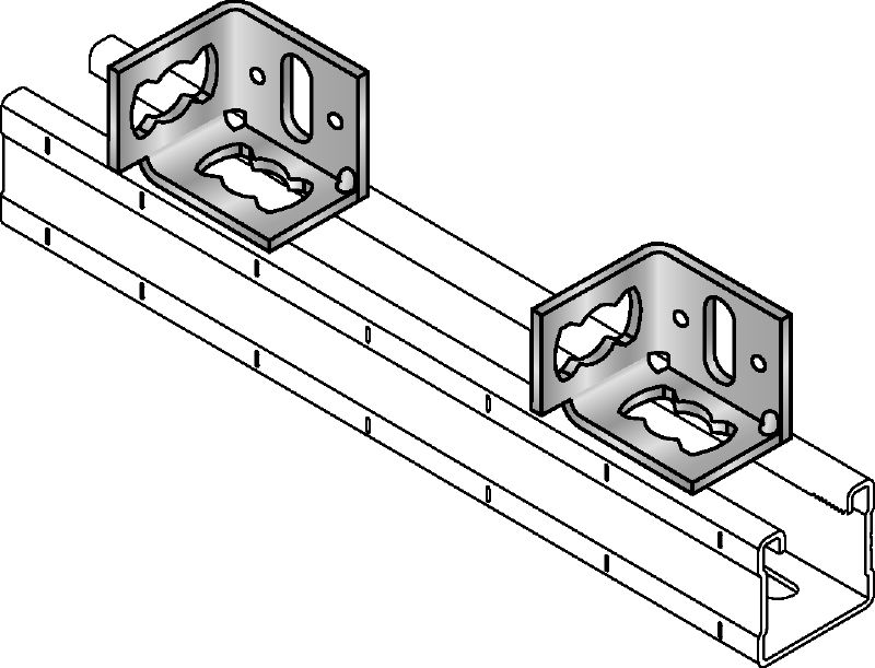 MQP-2/1 Galvanized channel foot for fastening channels to various base materials