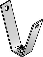 MF-TSH Galvanized decking hanger for fastening threaded rods to trapezoidal metal sheets