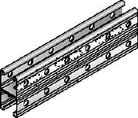 MR-41D Galvanized back-to-back double channel strut with serrated edges