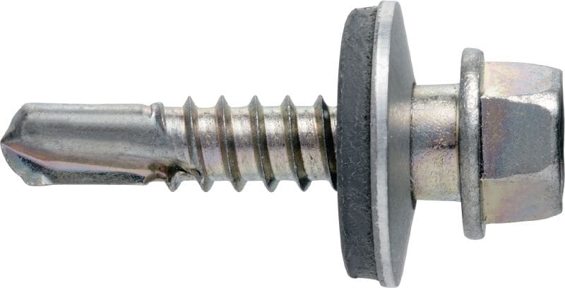 S-MD 53 S Self-drilling screw (A2 stainless steel) with 16 mm washer for medium-thick metal-to-metal fastenings (up to 6 mm)
