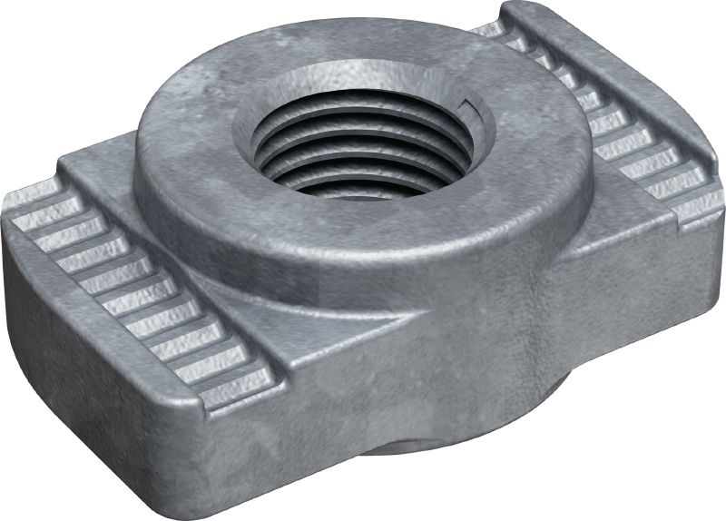 MRM-HDG plus Hot-dip galvanized (HDG) channel nut for piping applications