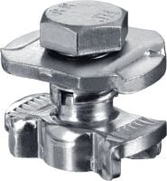 MQN-R Stainless steel (A4) channel connector for joining any elements with a butterfly opening