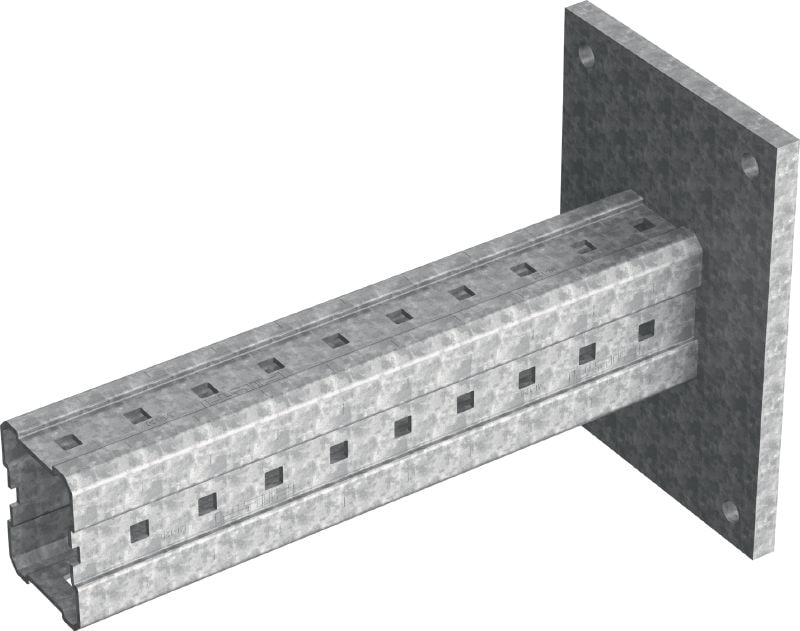 MIC-C120-DH Hot-dip galvanized (HDG) bracket for heavy-duty connections to concrete