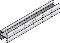 MR-21D Galvanized back-to-back double channel strut with serrated edges