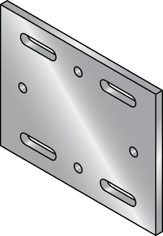 MIB-SH Hot-dip galvanized (HDG) baseplate for fastening MI girders to steel
