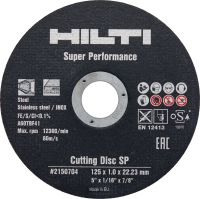 SP Cutting disc High-performance abrasive metal/stainless steel cutting disc for angle grinders