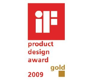 "This product has been awarded the ""Gold"" IF Design Award."