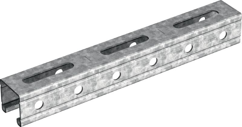 MR-41-HDG Hot-dip galvanized (HDG) strut channel with serrated edges