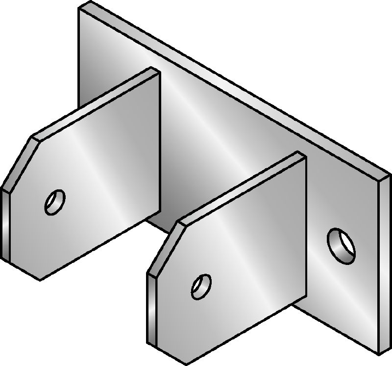 MIC-CU-MAH Hot-dip galvanized (HDG) connector for fastening girders directly to concrete at angles between 0 and 180 degrees