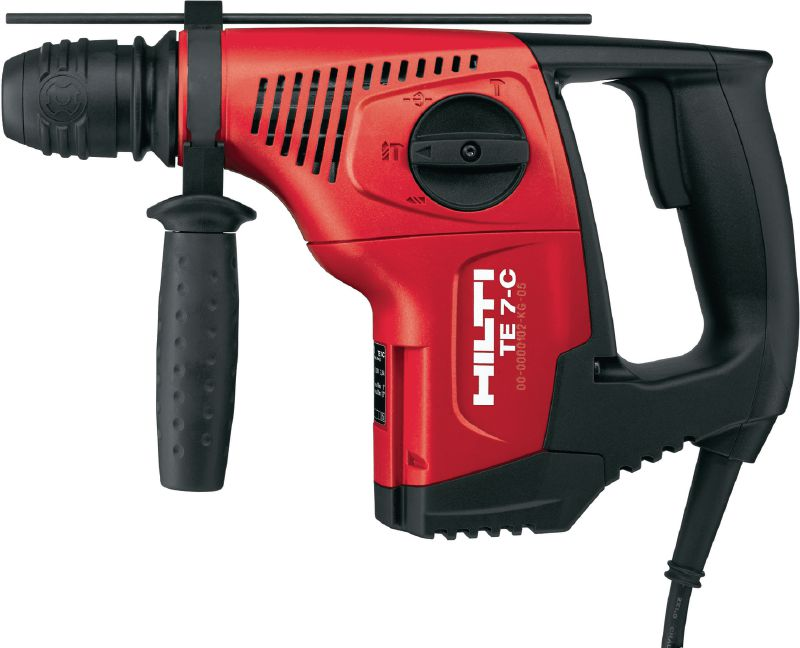 TE 7-C Rotary hammer Powerful D-grip, triple-mode SDS Plus (TE-C) rotary hammer with chipping function