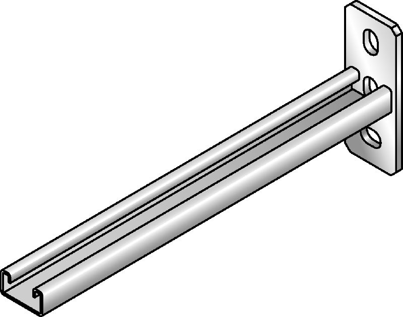 MRK-21 Galvanized supporting bracket with connection to base material