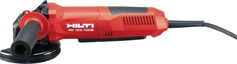 AG 125-15DB 1500W angle grinder with dead man's switch and brake for maximum safety, for discs up to 125 mm