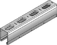 MM-C-45 Galvanized 45 mm high MM strut channel for light- to medium-duty applications