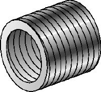 SR-RM Galvanized reduction sleeves used to reduce the diameter of threaded rods