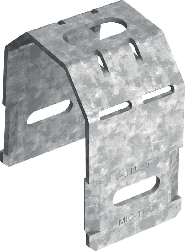 MIC-TRC Hot-dip galvanized (HDG) connector for fastening (M16) threaded rods to MI girders