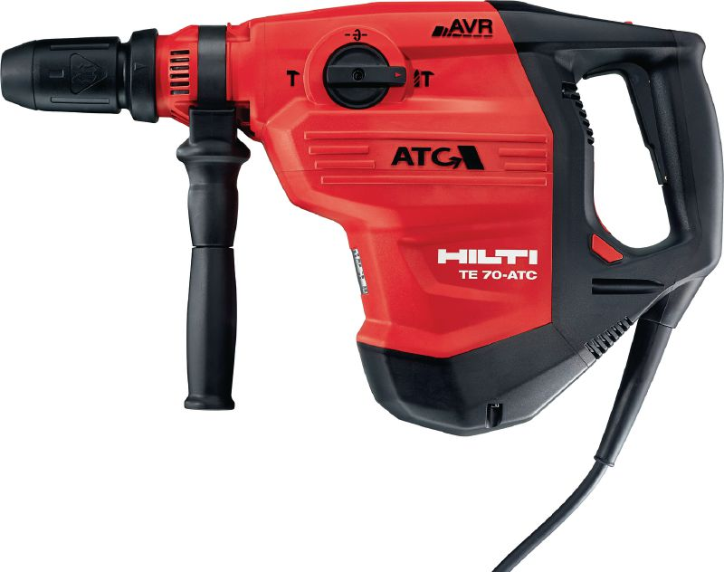 TE 70-ATC/AVR Rotary hammer Very powerful SDS Max (TE-Y) rotary hammer for heavy-duty concrete drilling and chiseling, with Active Torque Control (ATC) and Active Vibration Reduction (AVR)