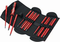 S-SD-S VDE VDE hand screwdriver in pouch bag with insulated, exchangeable bits for Electricians
