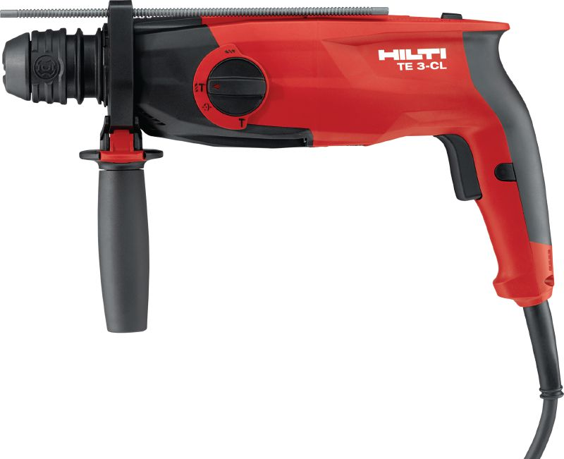 TE 3-CL Rotary hammer Powerful pistol-grip, triple-mode SDS Plus (TE-C) rotary hammer – with chipping function and easily changeable brushes